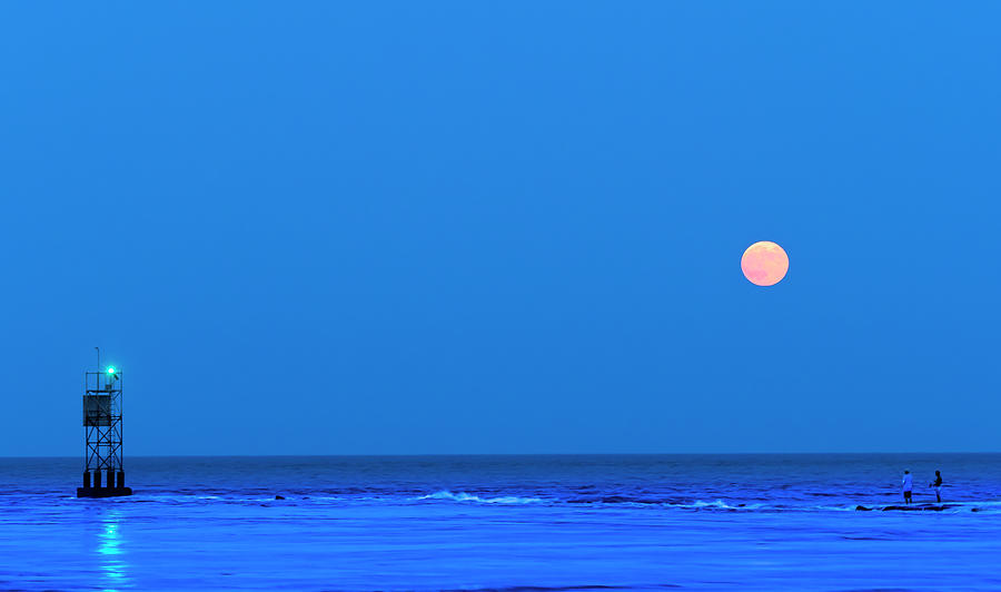 Fishing Under Full Moon by David Kay