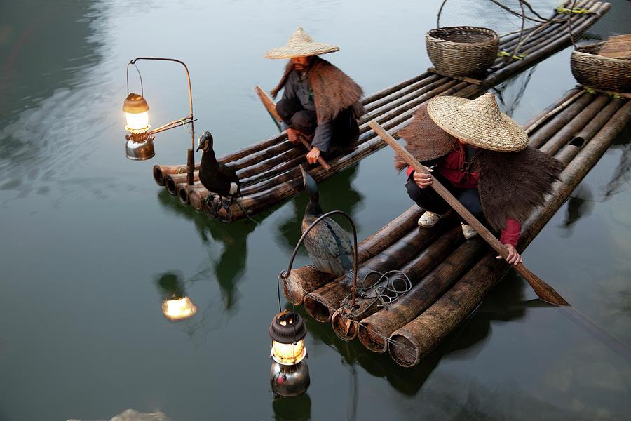 Fishing With Cormorants Photograph by Kingwu
