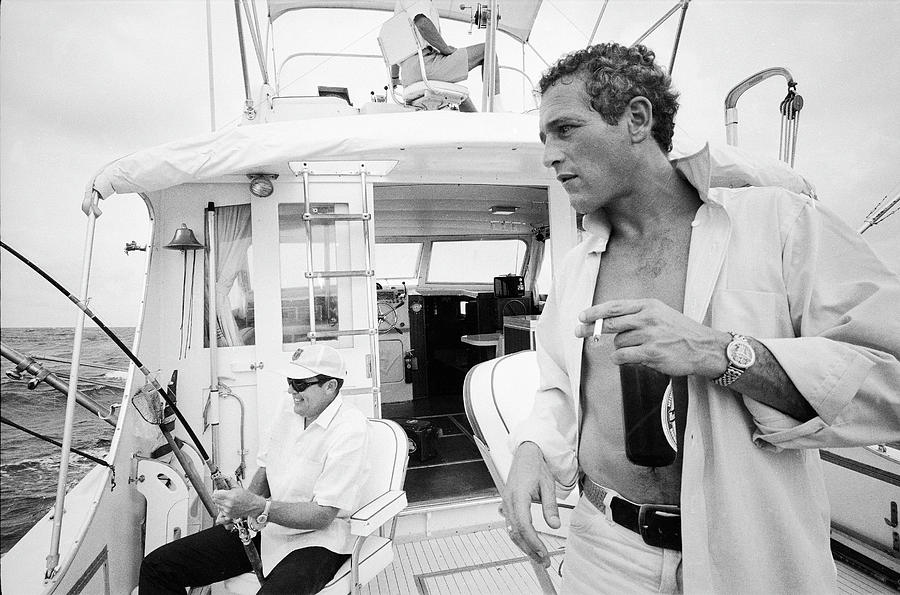 Fishing With Paul Newman Photograph by Mark Kauffman