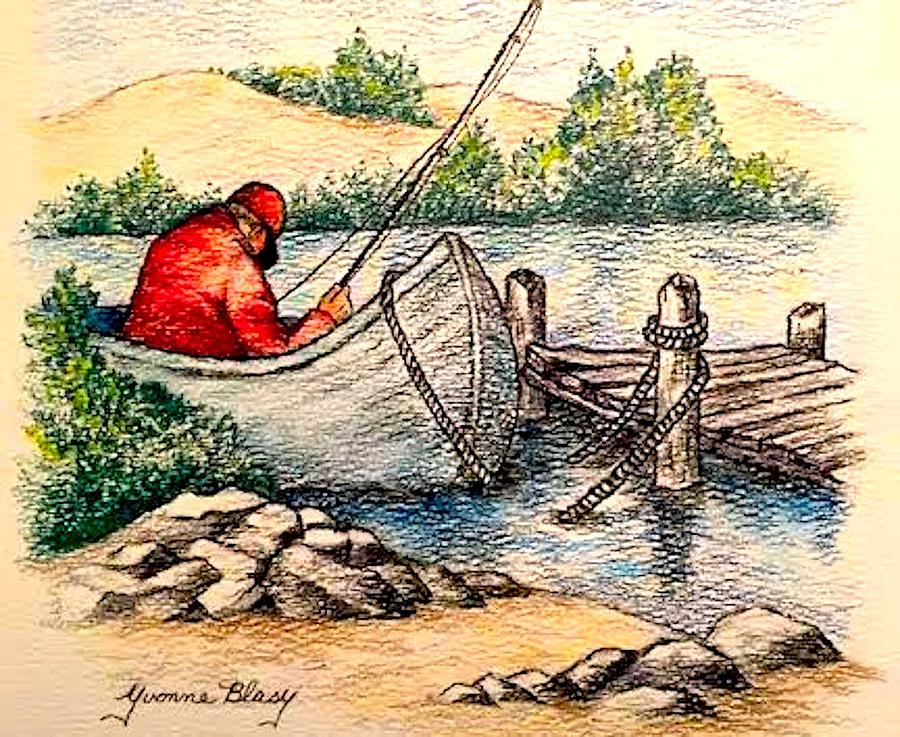 Fishing by Yvonne Blasy
