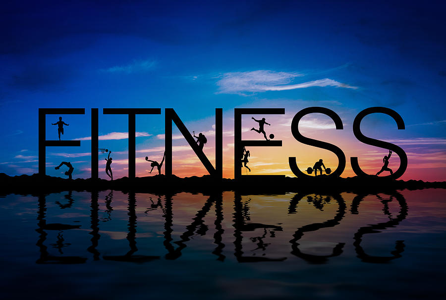 Fitness Digital Art - Fitness Concept by Aged Pixel