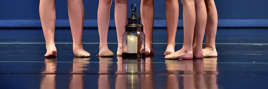 Five Dancers Lamp Reflection by Jerry Sodorff