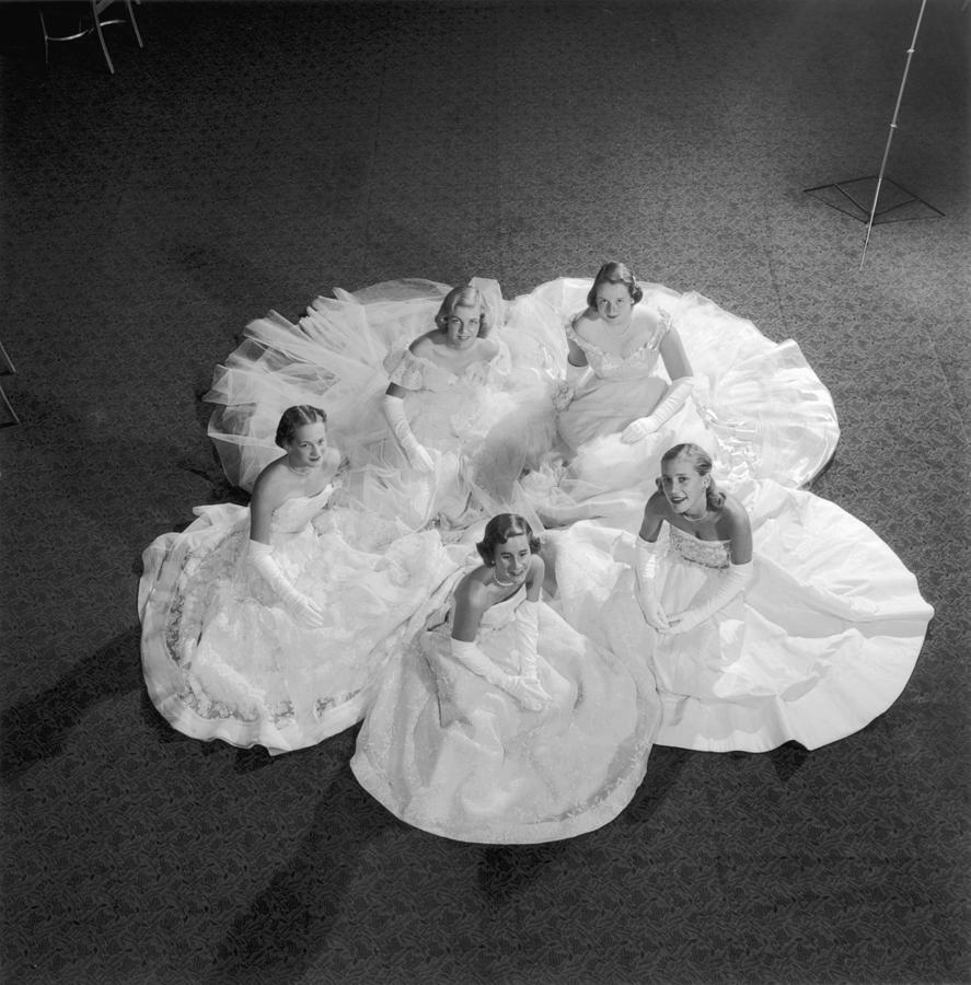 Five Debutantes Photograph by Slim Aarons