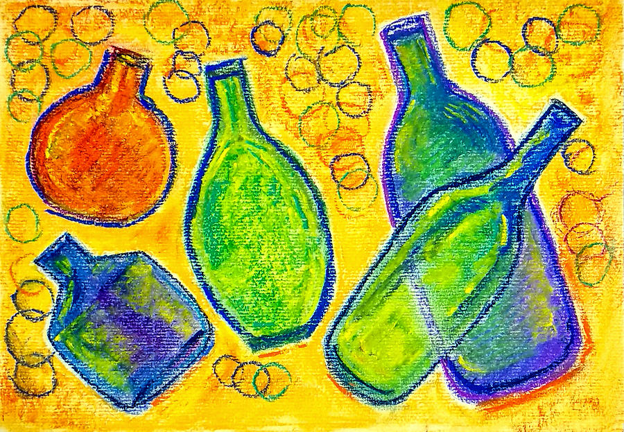 Five Floating Bottles  by Asha Sudhaker Shenoy