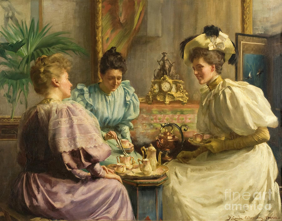 Five O'clock Tea Painting - Five Oclock Tea by David Comba Adamson