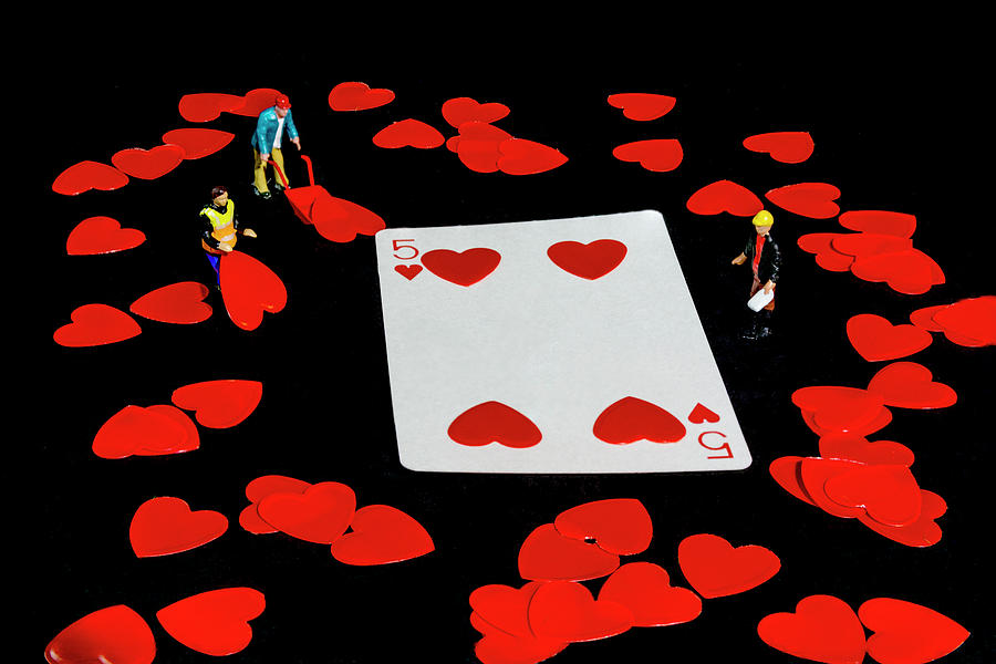 Five Of Hearts by Steve Purnell