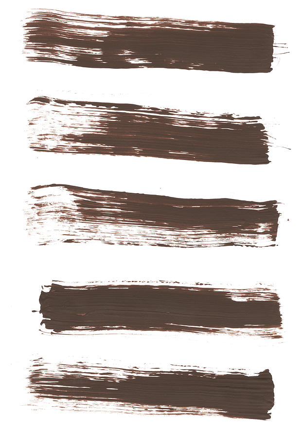Five Tan Streaks Of Paint Photograph by Kevinruss
