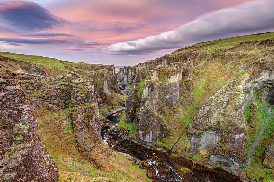 Fjadrargljufur Canyon at Sunrise in the South-East of Iceland by Pierre Leclerc Photography