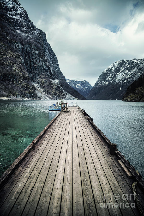 Fjord At The End Of The Pier Photograph