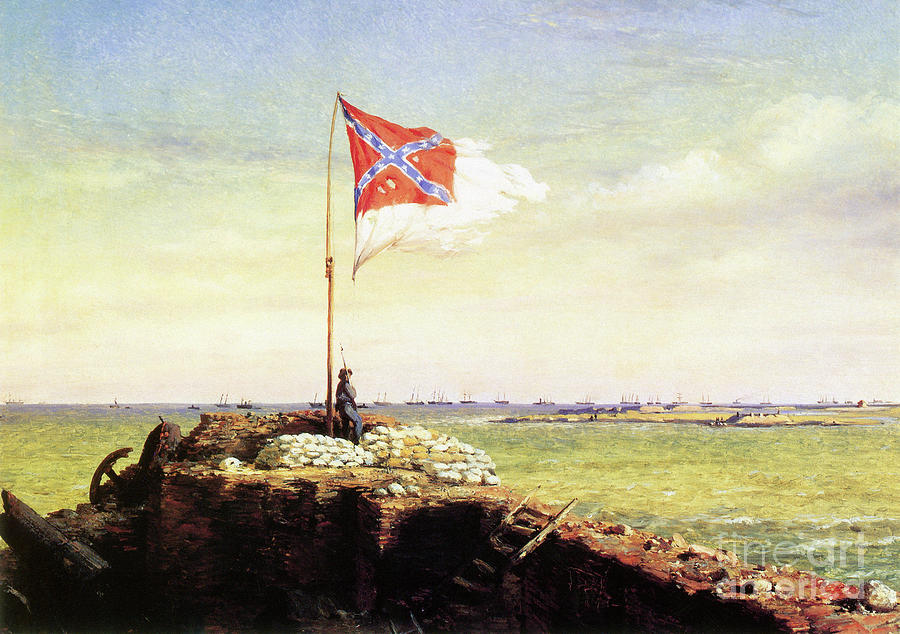 1863 Painting - Flag Of Fort Sumter by Conrad Wise Chapman