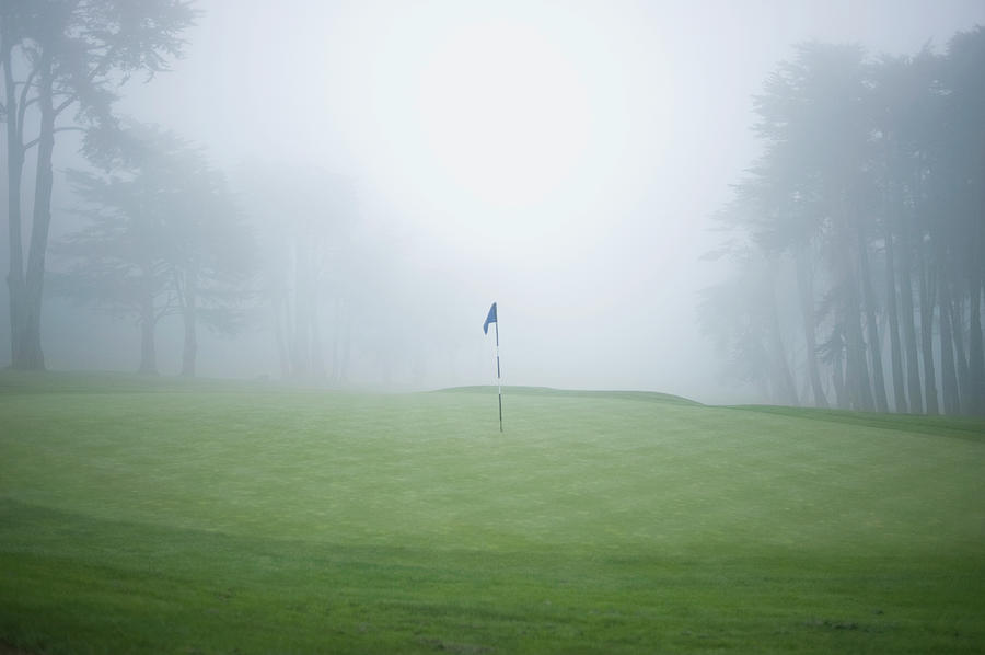 Flag On Putting Green On Golf Course Photograph by Siri Stafford
