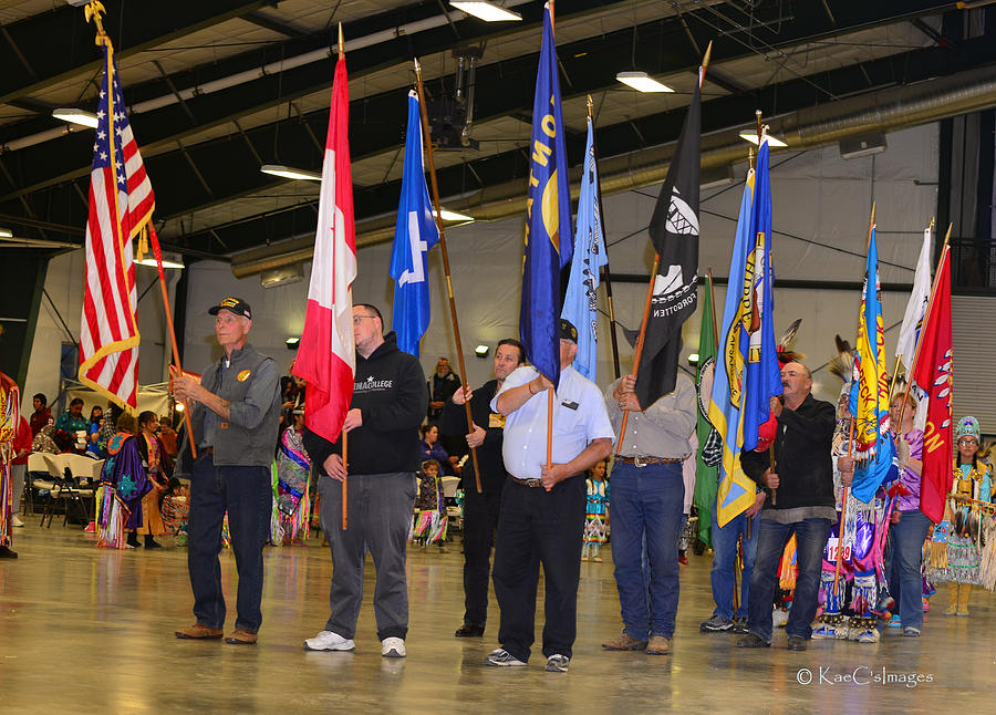Flags at Grand Entry - Powwow Photo by Kae Cheatham