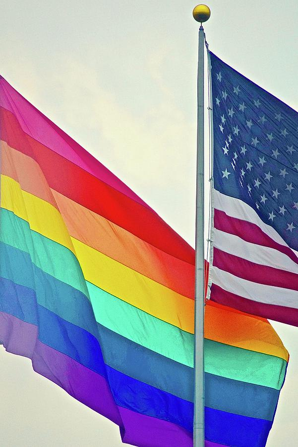 Rainbow Flag Photograph - Flags by Gillis Cone