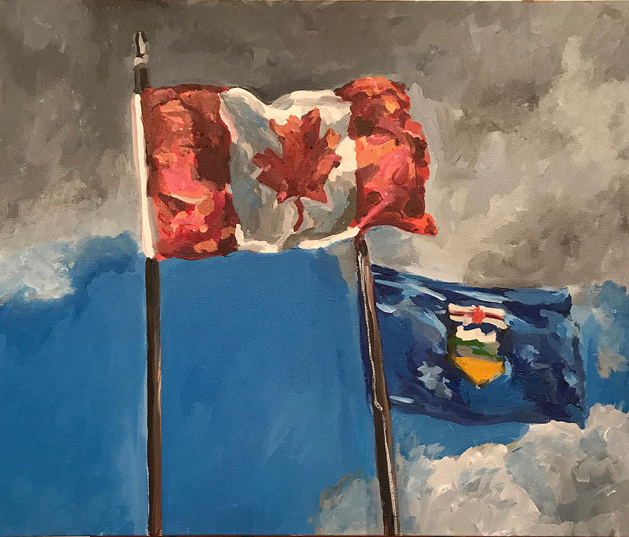 Flags Painting - Flags by Norman Burnham