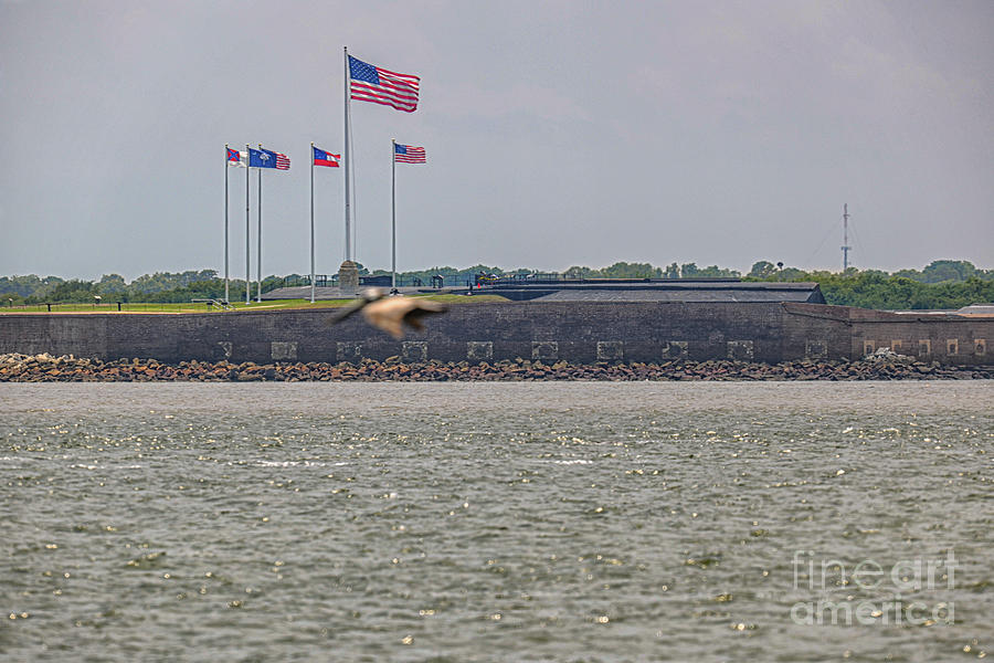 Flags Over Fort Sumter Photograph
