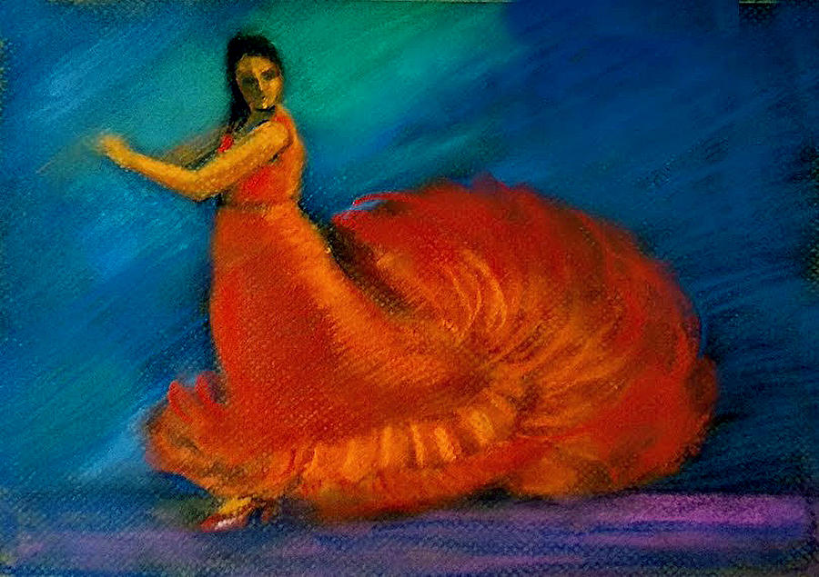 Flamenco dance 2 by Asha Sudhaker Shenoy