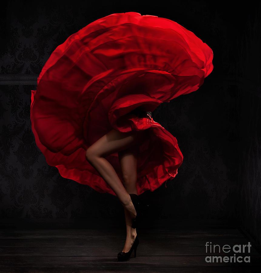 Dress Photograph - Flamenco Dancer by Conrado