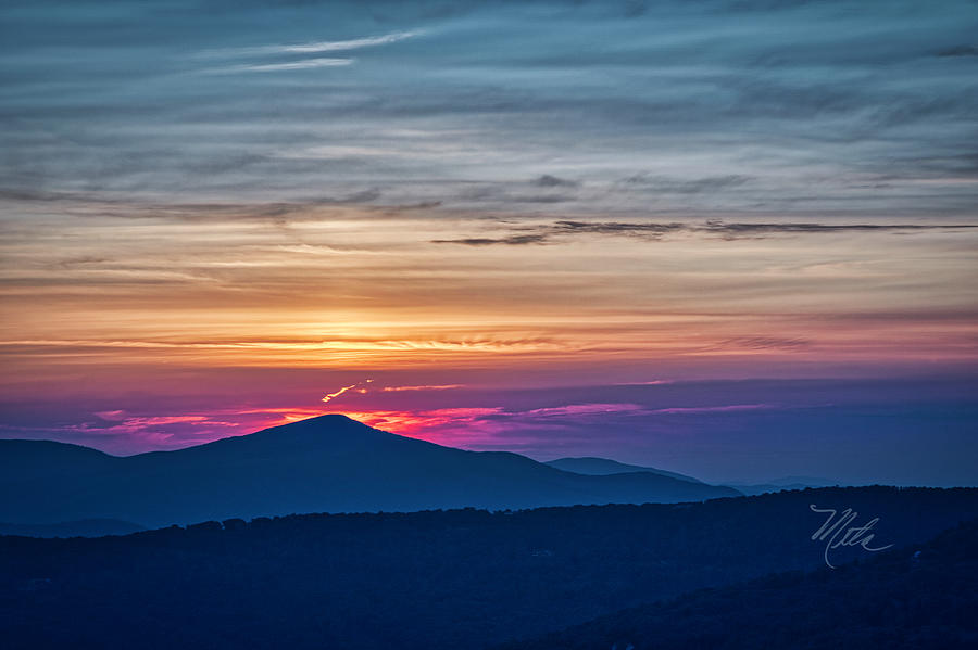 Flaming Sunset by Meta Gatschenberger