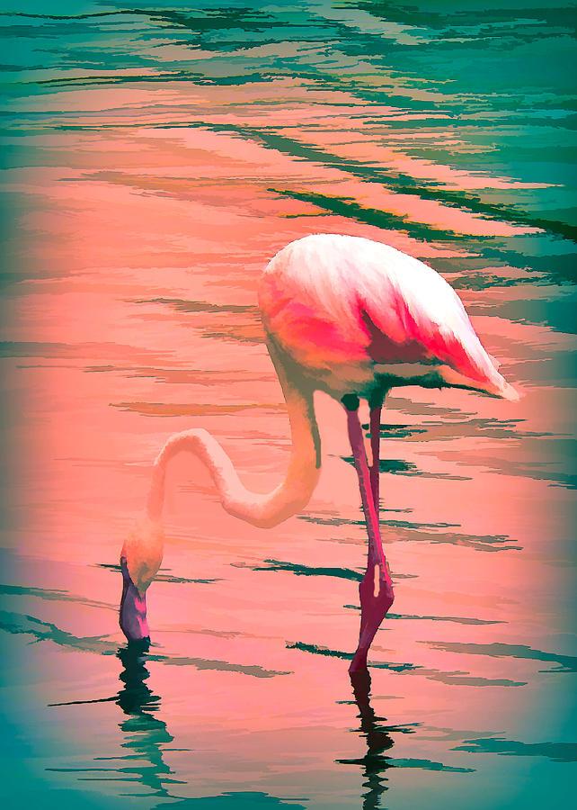 Flamingo Art by Rosalie Scanlon