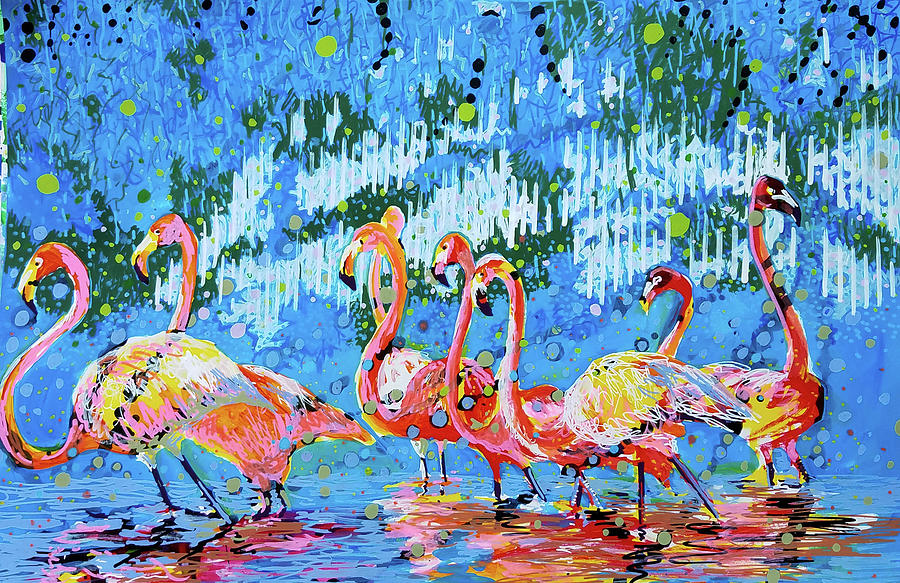 Flamingo Pat Party by Tilly Strauss