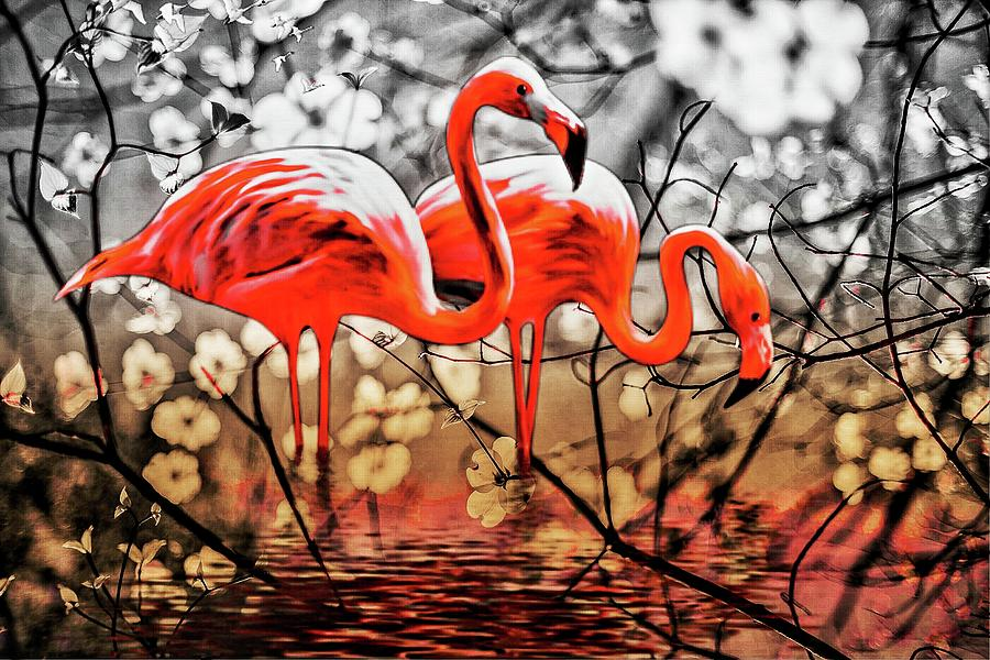 Flamingos by AE collections