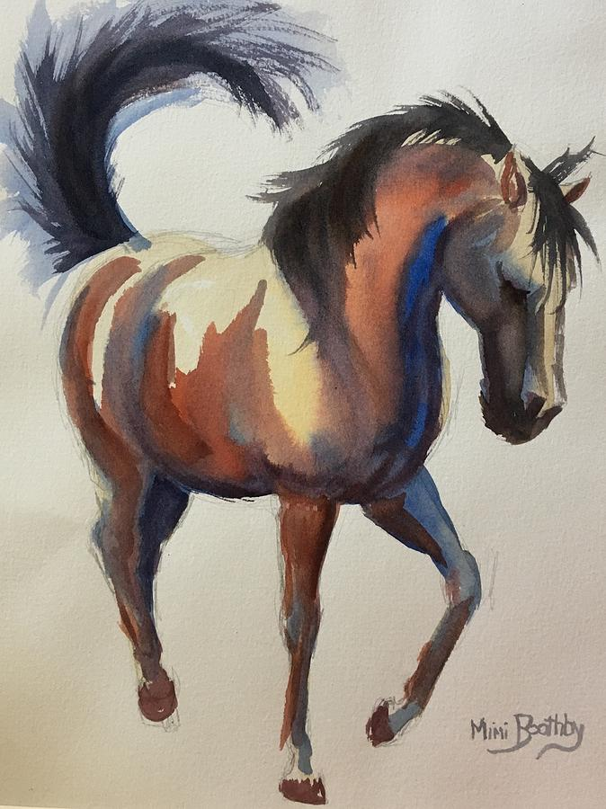 flashing bay horse by Mimi Boothby