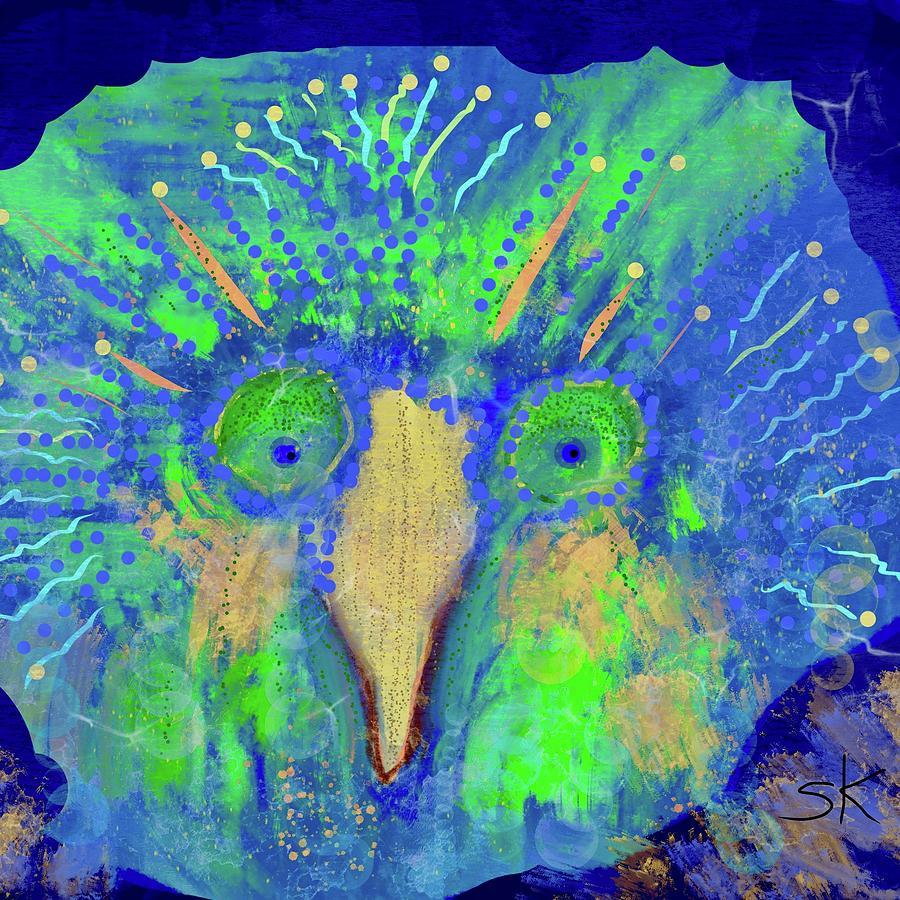 Flat Face Fish-Owl by Sherry Killam