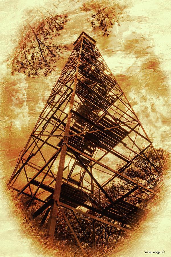 Flat Rock Fire Tower by Wesley Nesbitt