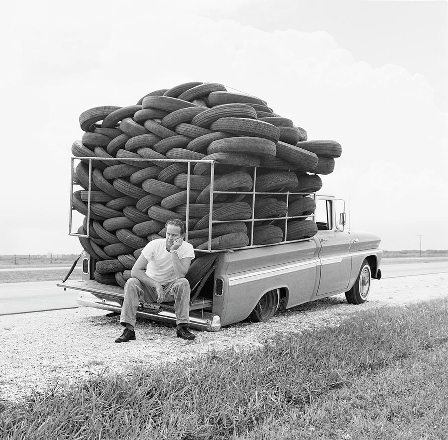 Flat Tire Photograph by Michael Ochs Archives