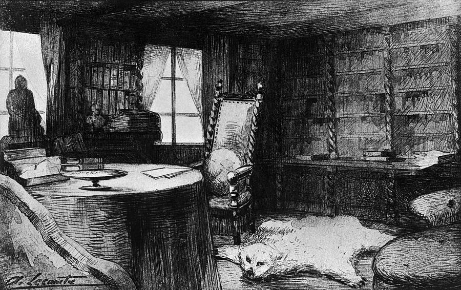 Flauberts Study Digital Art by Hulton Archive