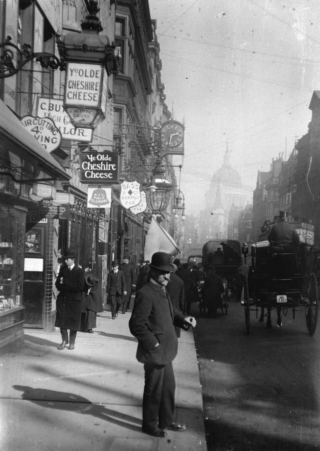 Fleet Street Photograph by F. J. Mortimer
