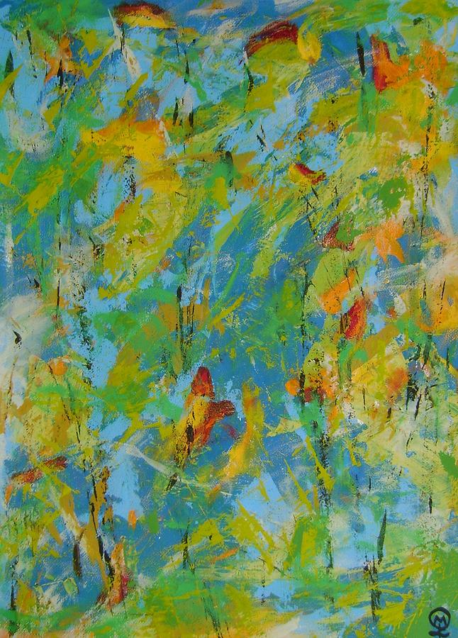 Fleeting Colors of Autumn #3-8119 Painting by Therese Legere