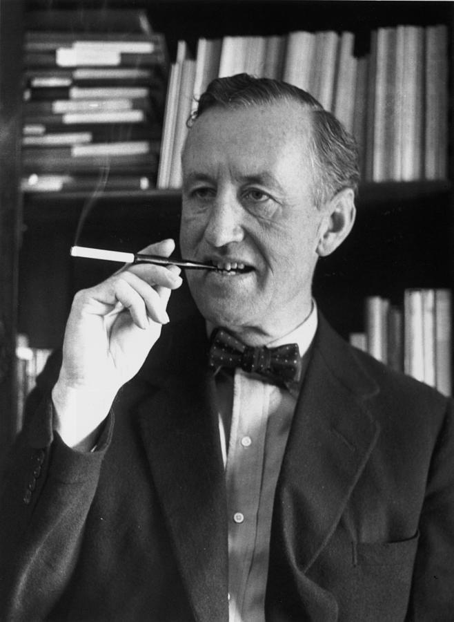 Fleming Smoking Photograph by Evening Standard