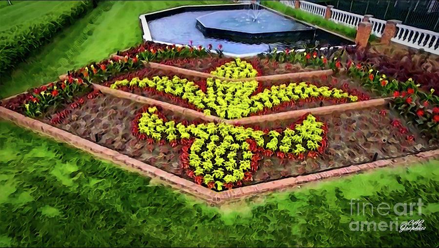 Fleur De Lis Kentucky Derby Flowers by CAC Graphics