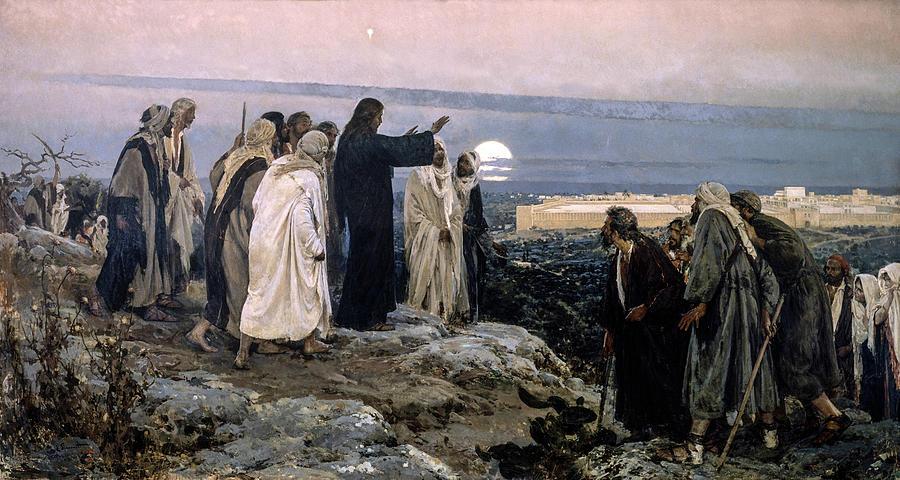 Prophecy Painting - Flevit Super Illam, 1892 by Enrique Simonet