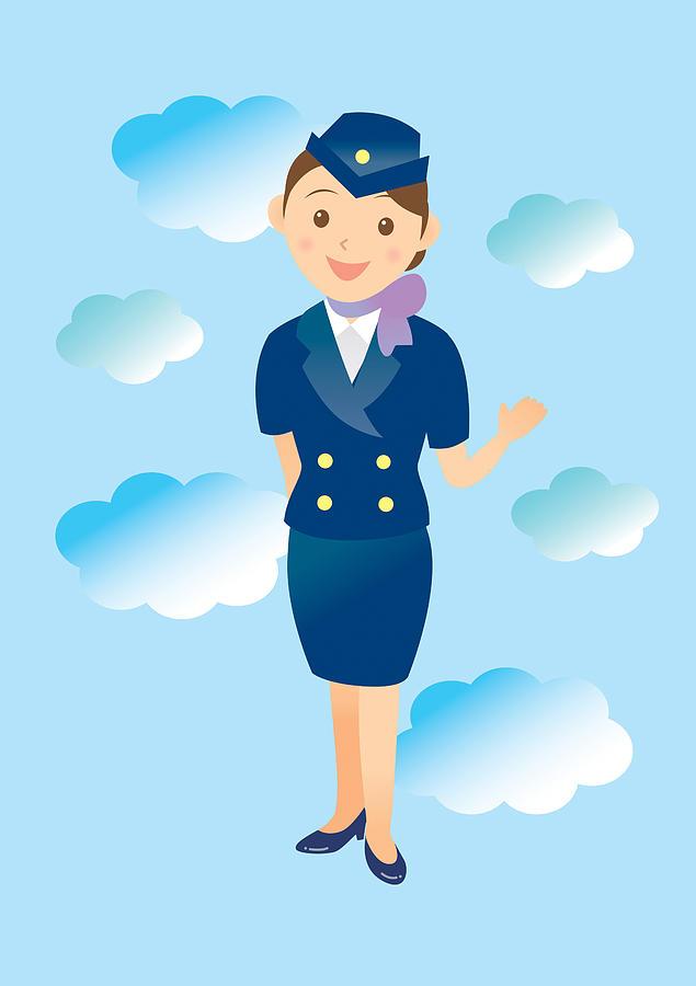 Flight Attendant Digital Art by Moonbase/amanaimagesrf