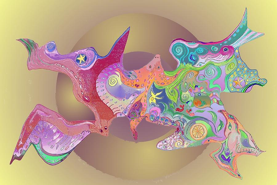 Evolution Digital Art - Flight Of Evolution V2 by Julia Woodman