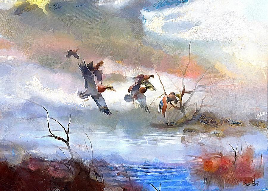 Flight Over The Lake by Wayne Pascall