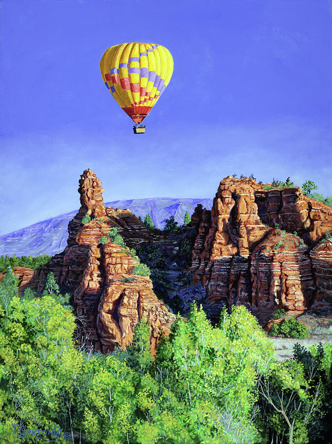 Morning Painting - Flight Over Thumb Rock by Timithy L Gordon
