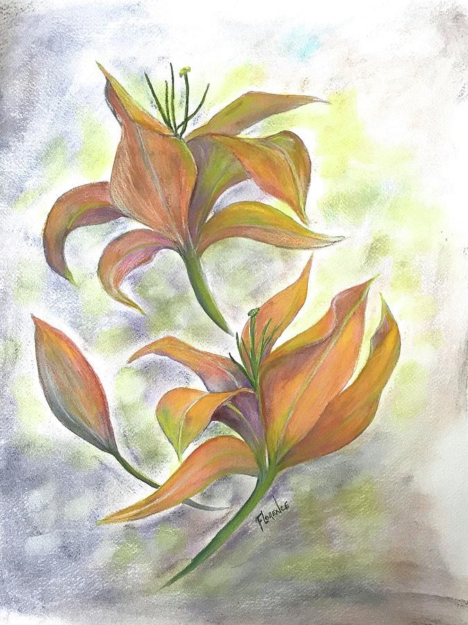 Floating irises  by Florence Ferrandino