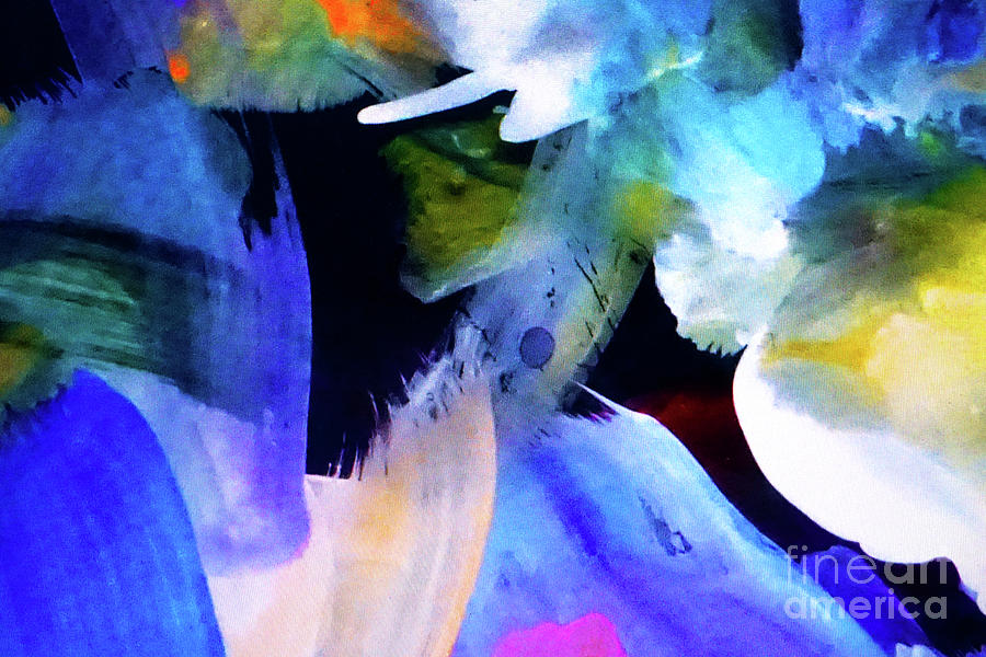 Abstract Painting - Floating by John Clark