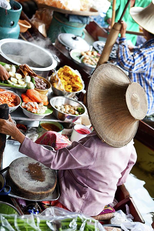 Floating Market In Bangkok, Thailand Photograph by Ilonabudzbon