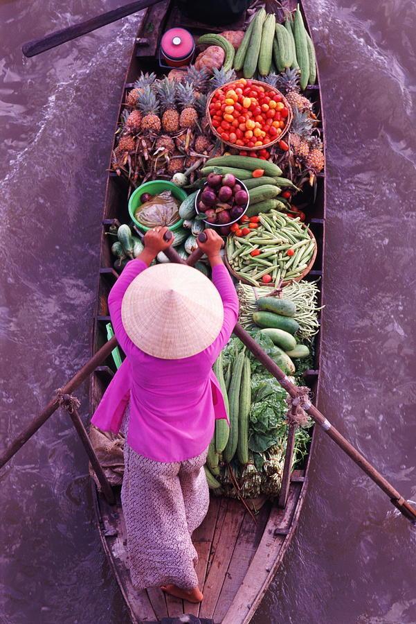 Floating Markets, Mekong Delta, Vietnam Photograph by John W Banagan