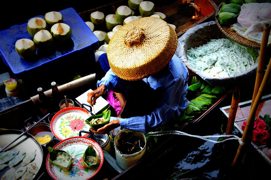 Floating Markets Photograph by Nigel Killeen