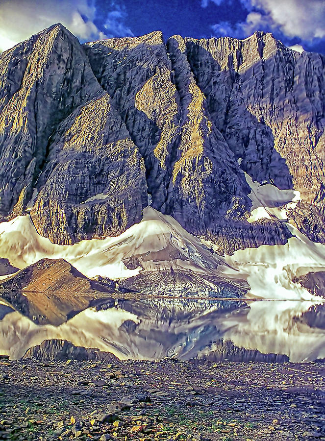 Floe Lake And The Rock Wall Photograph