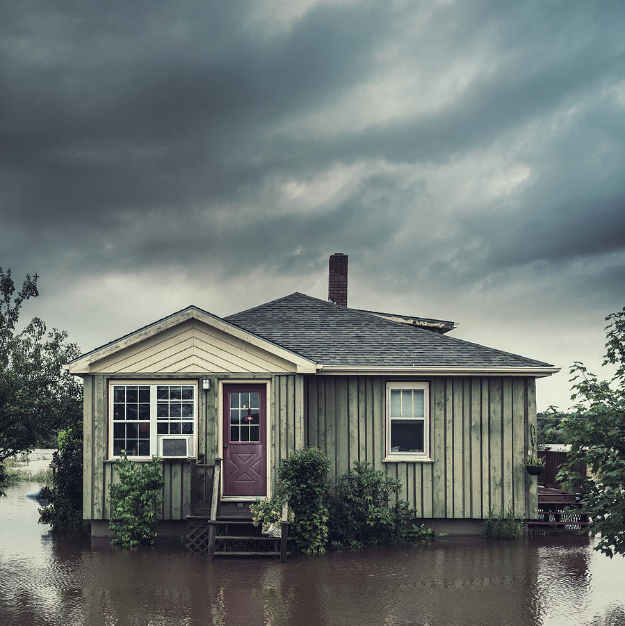 Flooded Home Photograph by Shaunl