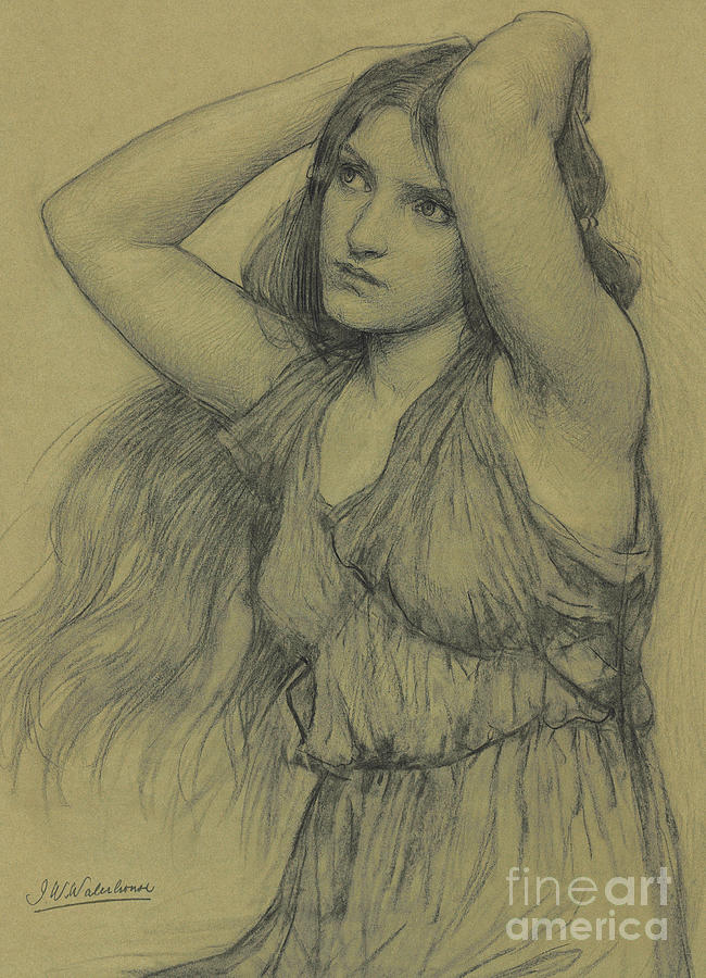 Flora Pastel - Flora by John William Waterhouse