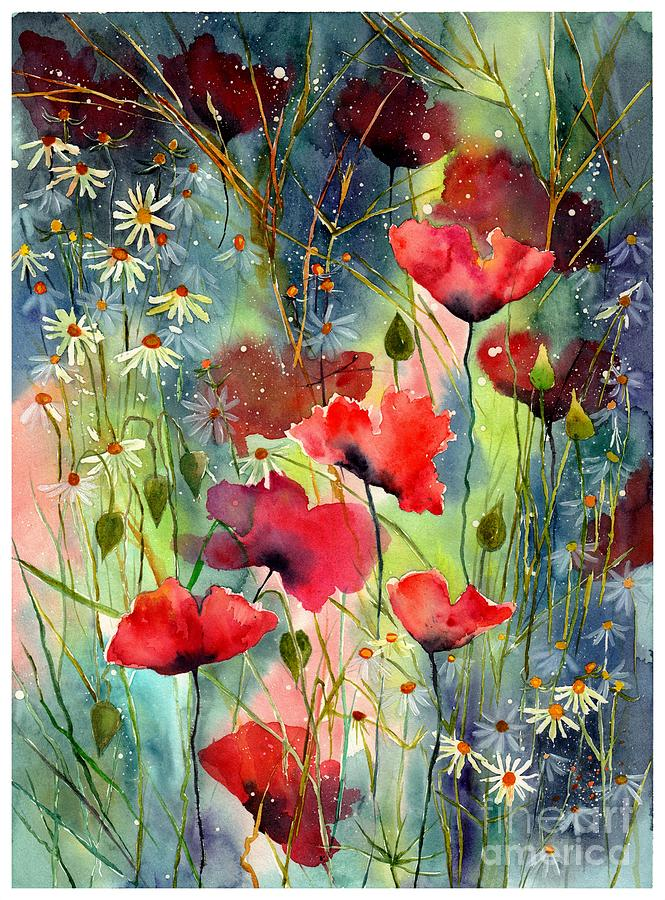 Cosmic Painting - Floral Abracadabra by Suzann Sines