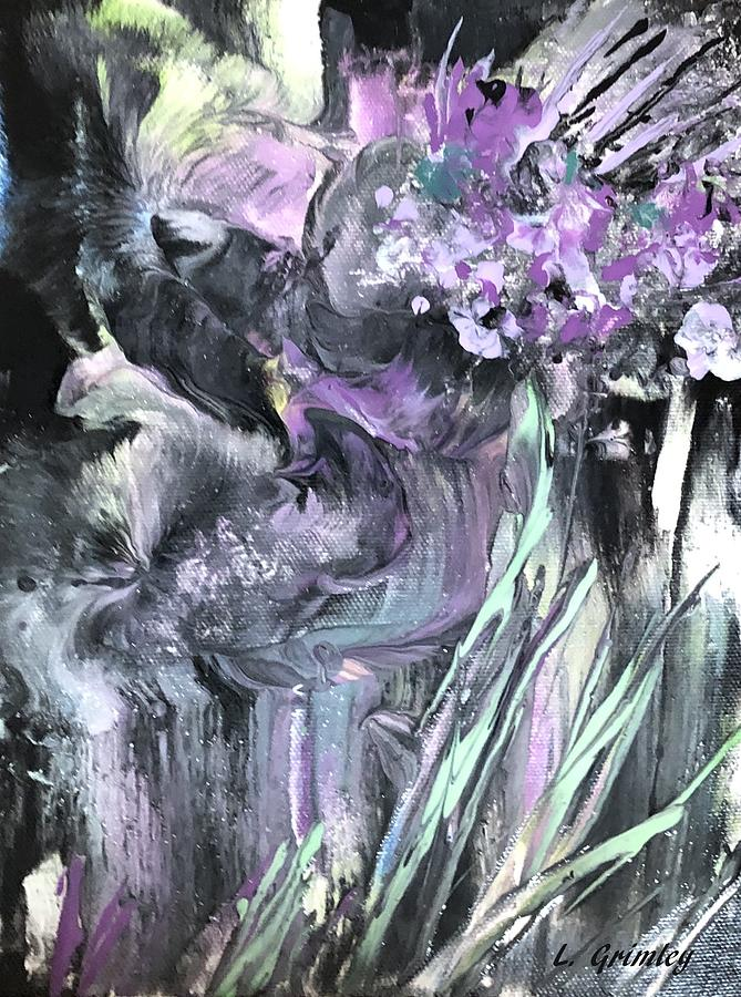 Floral abstract by Lessandra Grimley