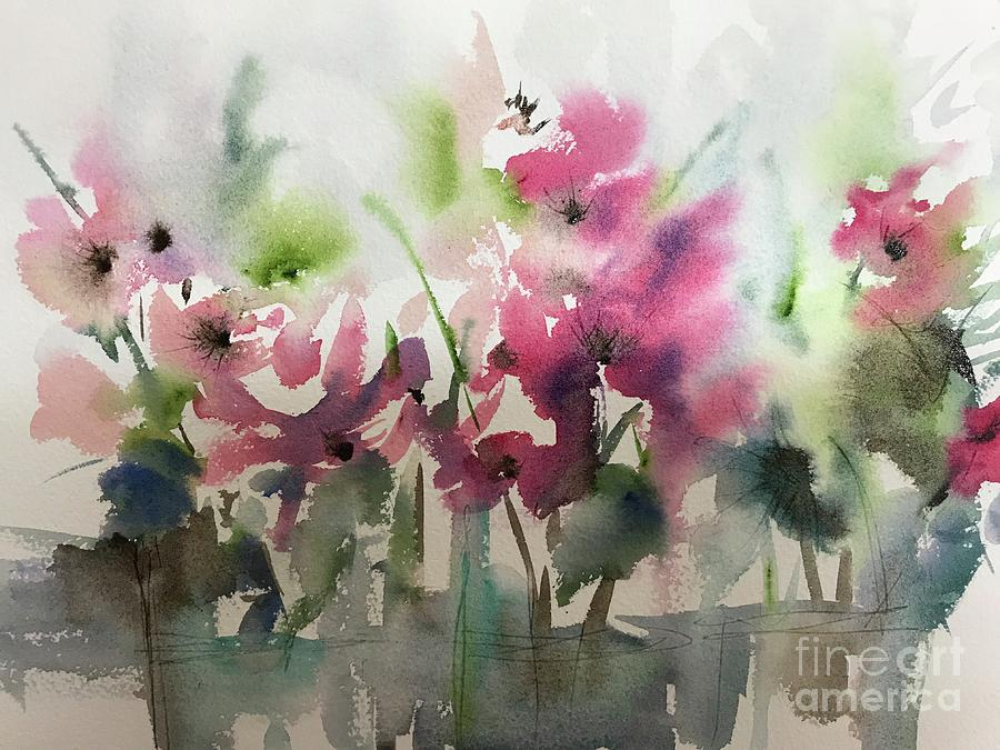 floral abstract painting by Chris Hobel
